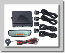 4 parking sensors, mirror-monitor and built in alarm signal speaker